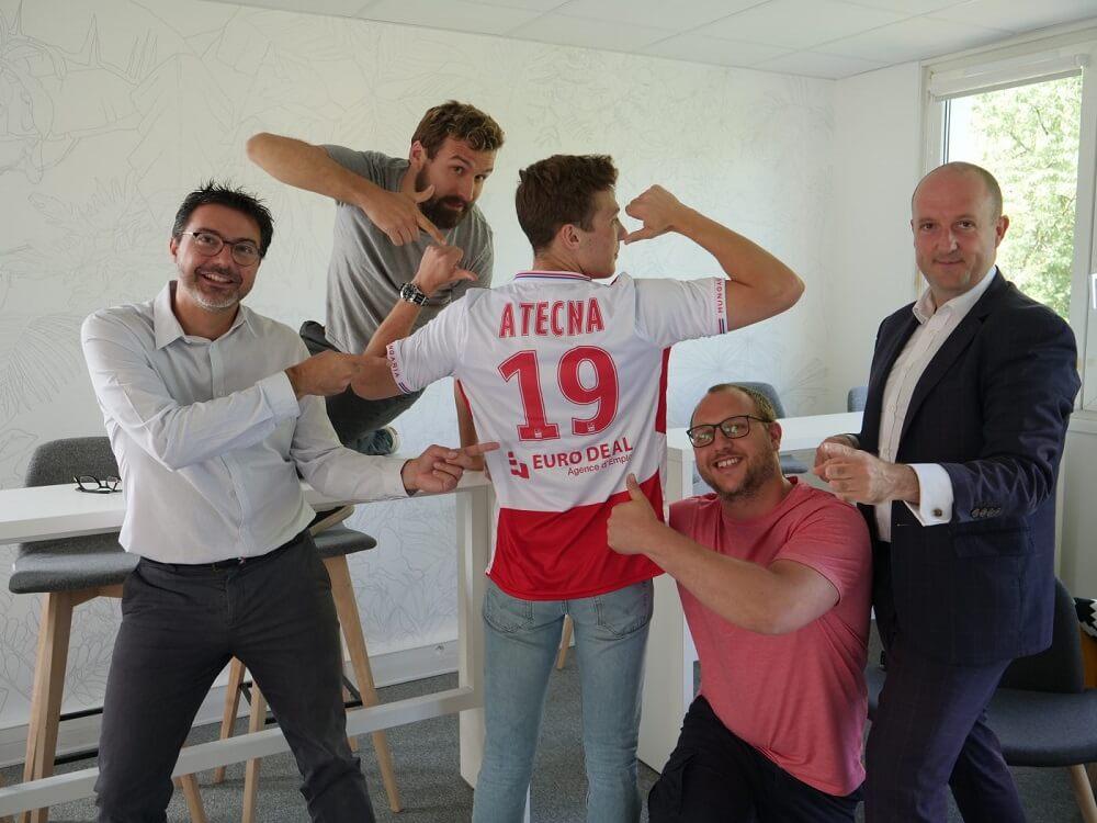 Team Atecna et mailllot Stade de Reims