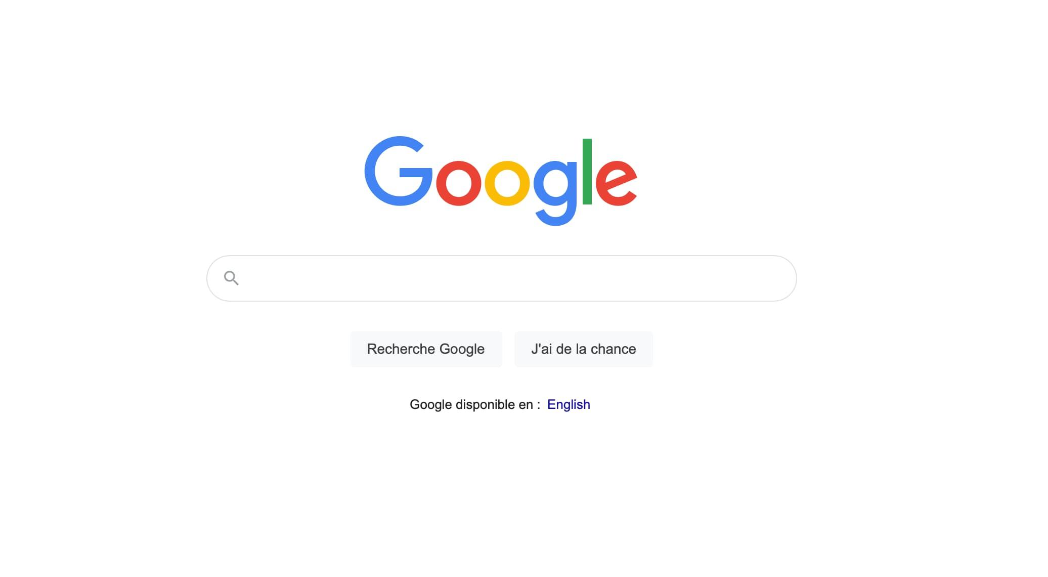 Page recherche Google