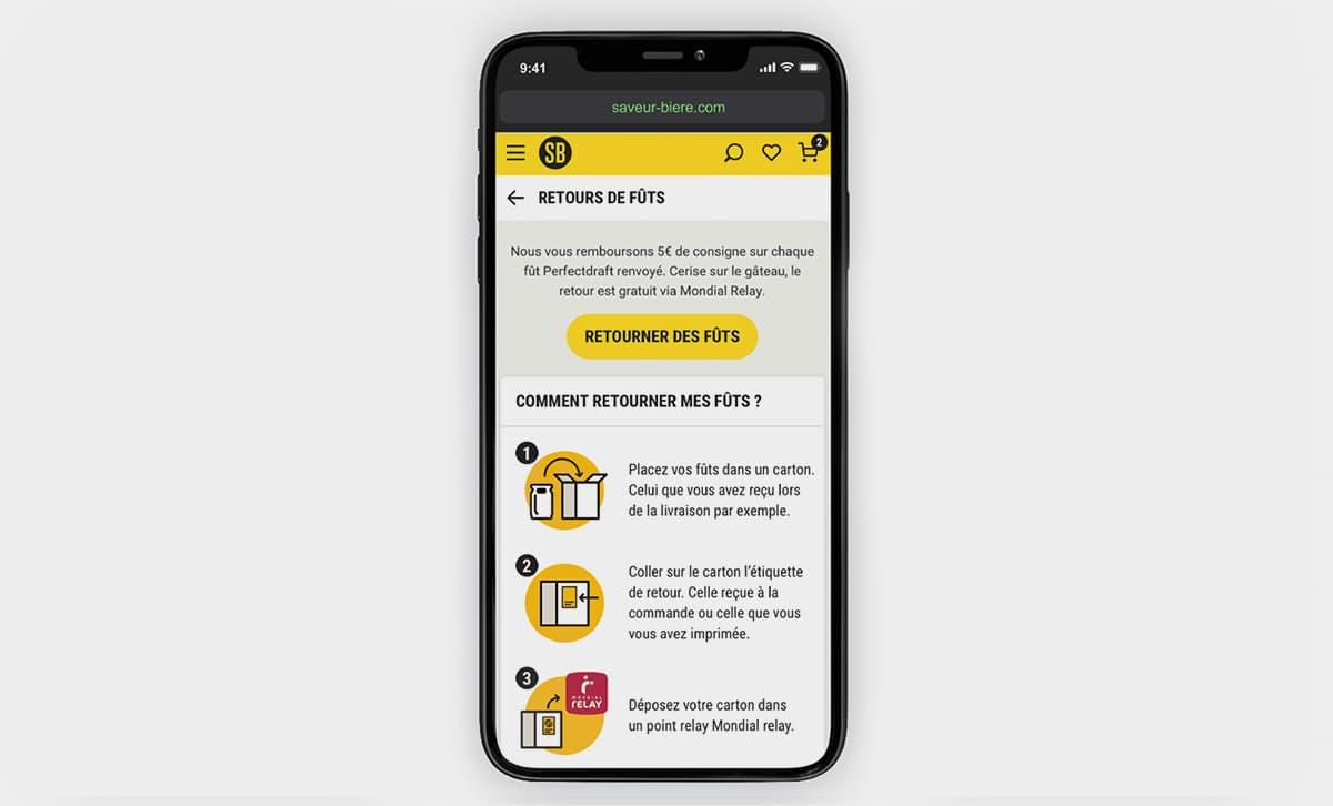 Smartphone site saveur bière