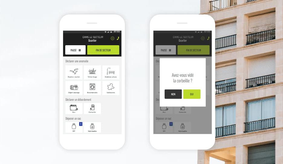 Deux smartphones avec une application
